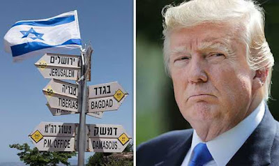 USA Will Recognise Israel's Sovereignty Over Golan Heights
