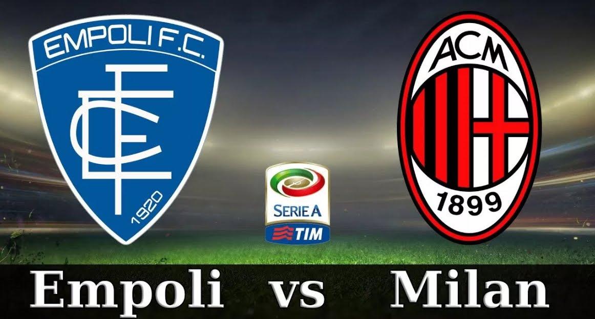 Empoli-Milan 1-1: risultato firmato da Caputo su rigore (77') e autogol Capezzi (10').