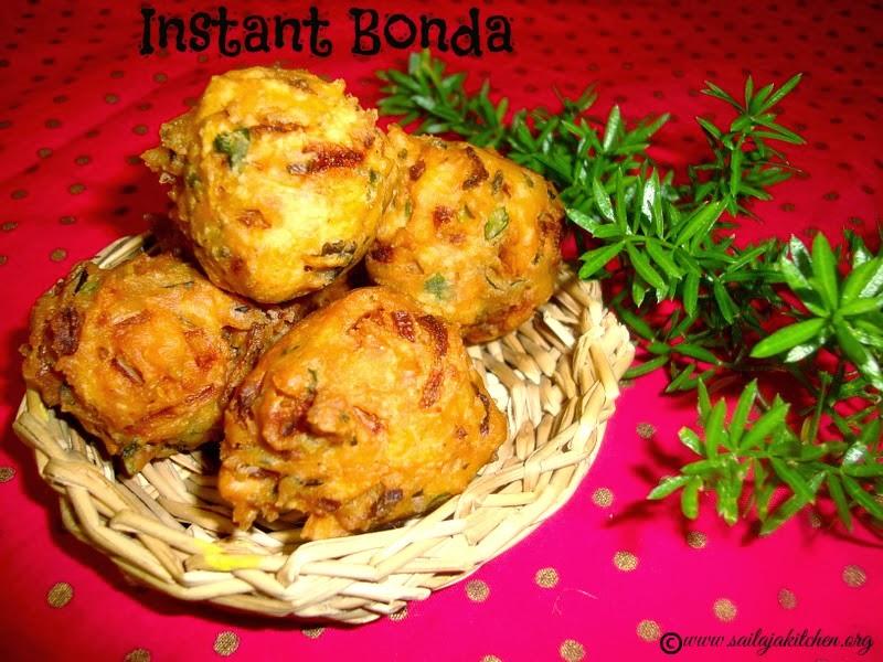Instant Kadalai Maavu Bonda recipe/ Gram Flour Bonda recipe / Chickpea Fritters / Besan Flour Fritters/Instant Bonda Recipe - A Quick Snack Recipe