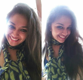 Keerthy Suresh with Cute and Awesome Lovely Chubby Cheeks Smile
