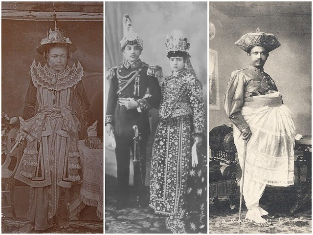 19th century court dress in Burma, Nepal and Sri Lanka