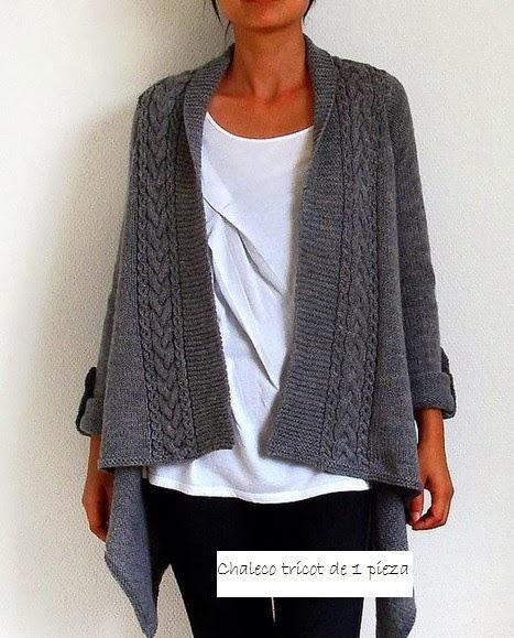 chaleco, tricot, una pieza, 2 agujas