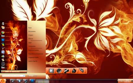 Fire Flower Theme for Windows 7
