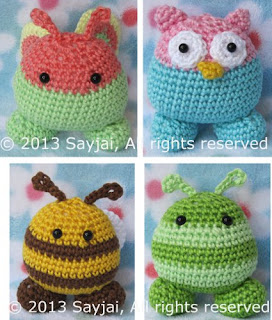 Amigurumi Crochet Patterns Easy : Garden Pals: easy Amigurumi crochet pattern - Sayjai ...