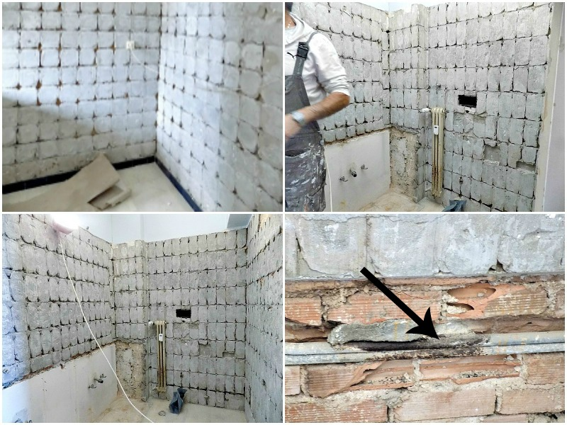 Works in progress, master bathroom renovation