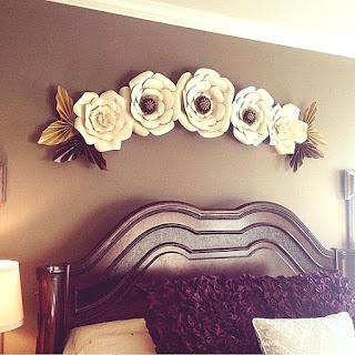 Flores de cartulina para dormitorio