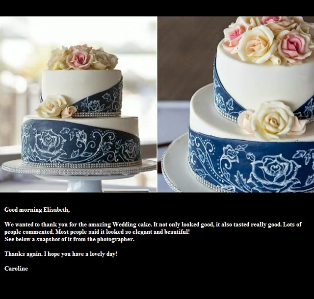 Fondant Birthday Cakes With Blue Gold And Silver Elisabeth S