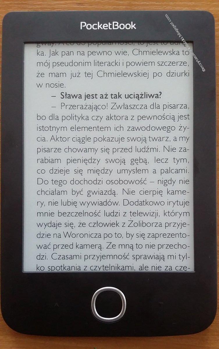 przykład wyświetlania pliku pdf w trybie kolumnowym na czytniku PocketBook Basic 3