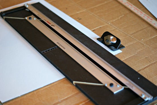 Put Something Over Your Table Or Counter To Protect It When T The Mat Knife Will Go Through Board So Surface