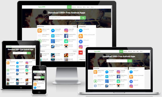 Sure APK Responsive Blogger Templates