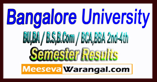 Bangalore University BU_BA / B.SC / B.Com / BCA / BBA 2nd-4th-sixth Semester Results 2018