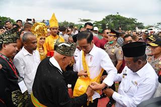 Di Rokan Hulu Presiden Jokowi Luncurkan Program Peremajaan Sawit Rakyat