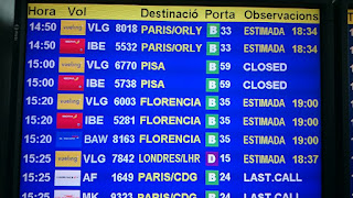 Vuelo a Pisa cerrado