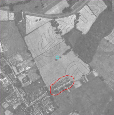 Aerial photograph showing location of houses noted on Stimson's map. (Preview version from UK Aerial Photos website)