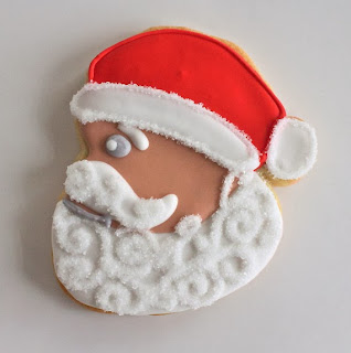 Santa shaped cookies
