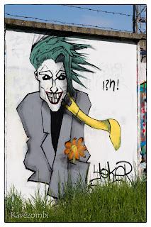 Joker graffiti Szegeden a körtöltésen