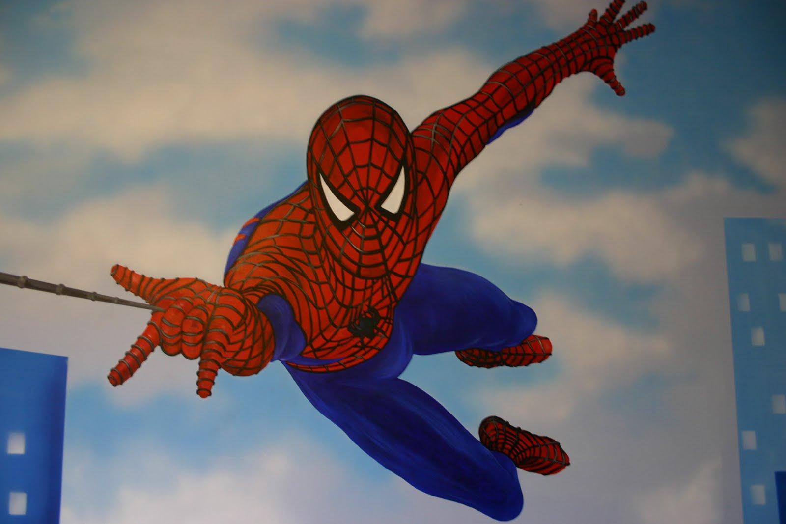"""Mural Designs """"The Muralist"""": Spiderman Wall Mural"""