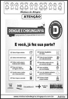 cartaz sobre a denge