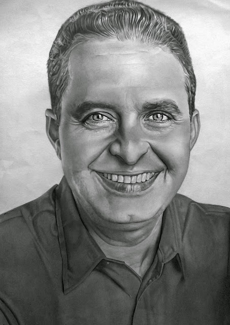 desenho feito por Carlos Silva Pernambucano  materiais usado no desenho, folha Fabiano 4, lápis H,Hb, 4B, esfuminho para sombrear a pele, e caneta borracha, tamanho A3   Eduardo Campos