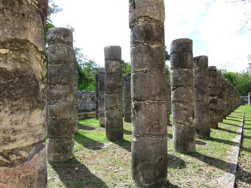 Thousand Columns Chichen Itza