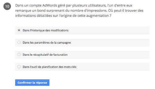 comptes adwords géré par plusieurs utilisateur, historique des modifications - certification google partners réseau de recherche