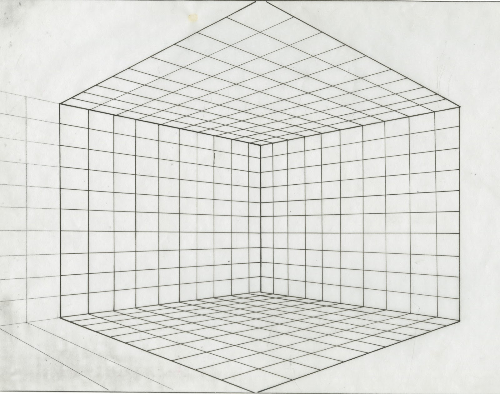 Point Perspective Grid Paper