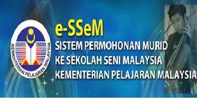 Permohonan Sekolah Seni Malaysia Sesi 2019 Online