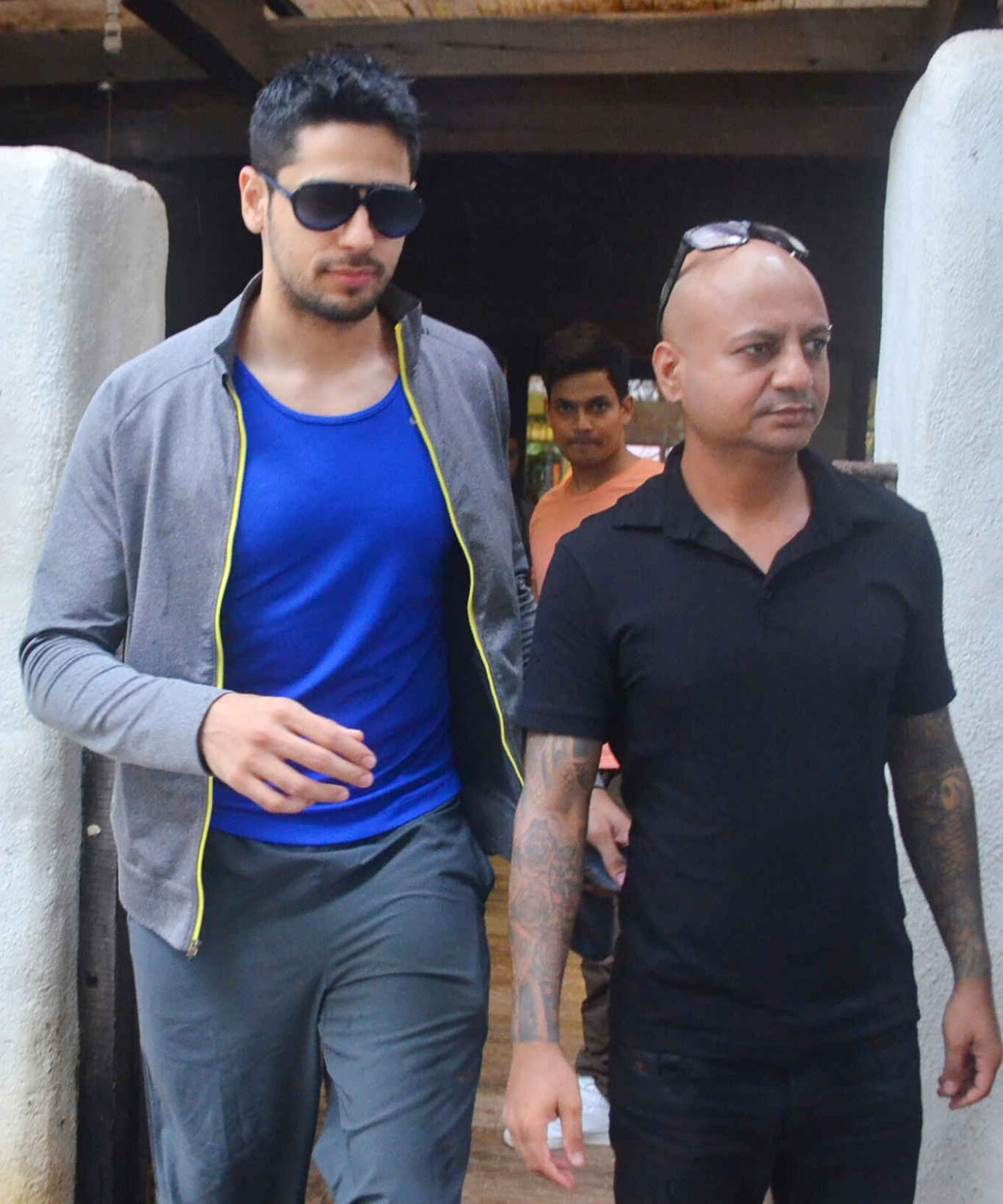 Sidharth Malhotra at Hakim's Aalim Salon In Khar, Mumbai