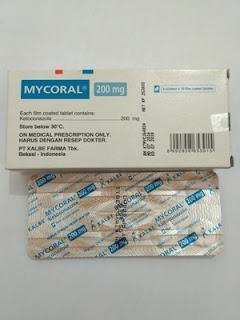 Obat jamur kulit  mycoral tablet