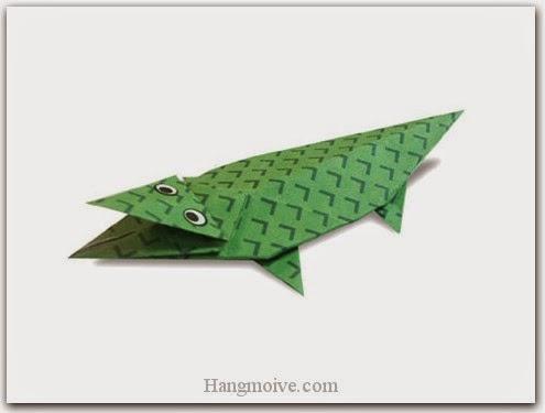 Cách gấp, xếp con cá sấu bằng giấy origami - Video hướng dẫn xếp hình Động vật - How to fold a Crocodile