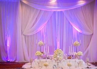Curtain / drapes wedding decor2