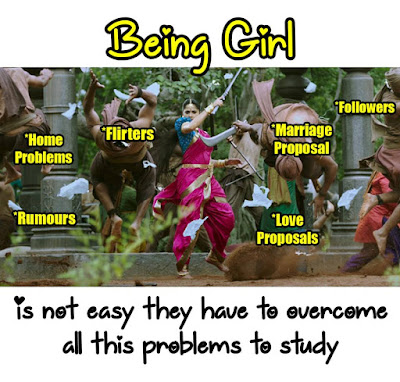 Being Girl is not easy they have to overcome all this problems to study