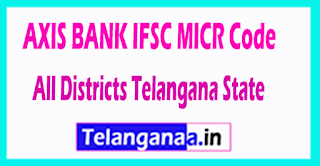 AXIS BANK IFSC MICR Code All Districts Telangana State