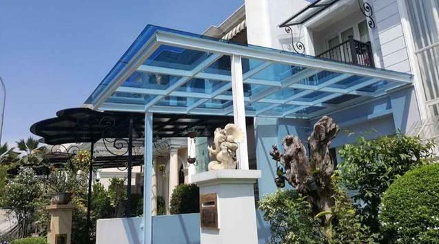 Kanopi Rumah Minimalis Dengan Atap Kaca