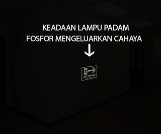 jual Rambu Fosfor - Jalur Evakuasi -  acrylic - signage