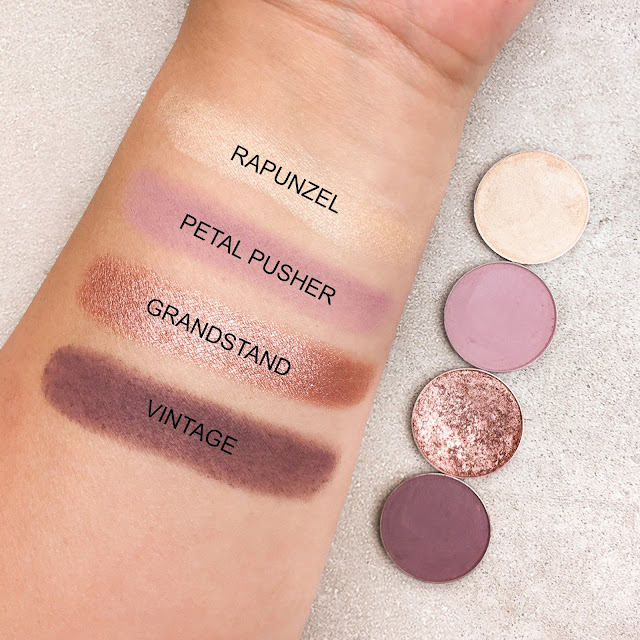 MAKEUP GEEK QUAD IDEA: DUSTY ROSE AND PLUM, Vintage,  Rapunzel,  Petal pusher,  Grandstand, futilitiesandmore, futilitiesmore