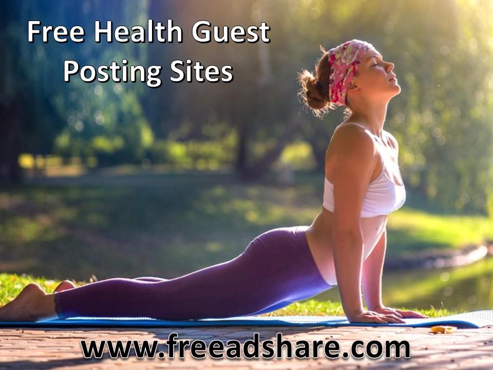 Top 260+ Free High DA Health Guest Posting Sites that