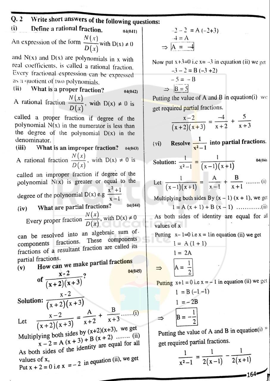 10th Maths Misc. Exercise 4 Solved Obectives 3