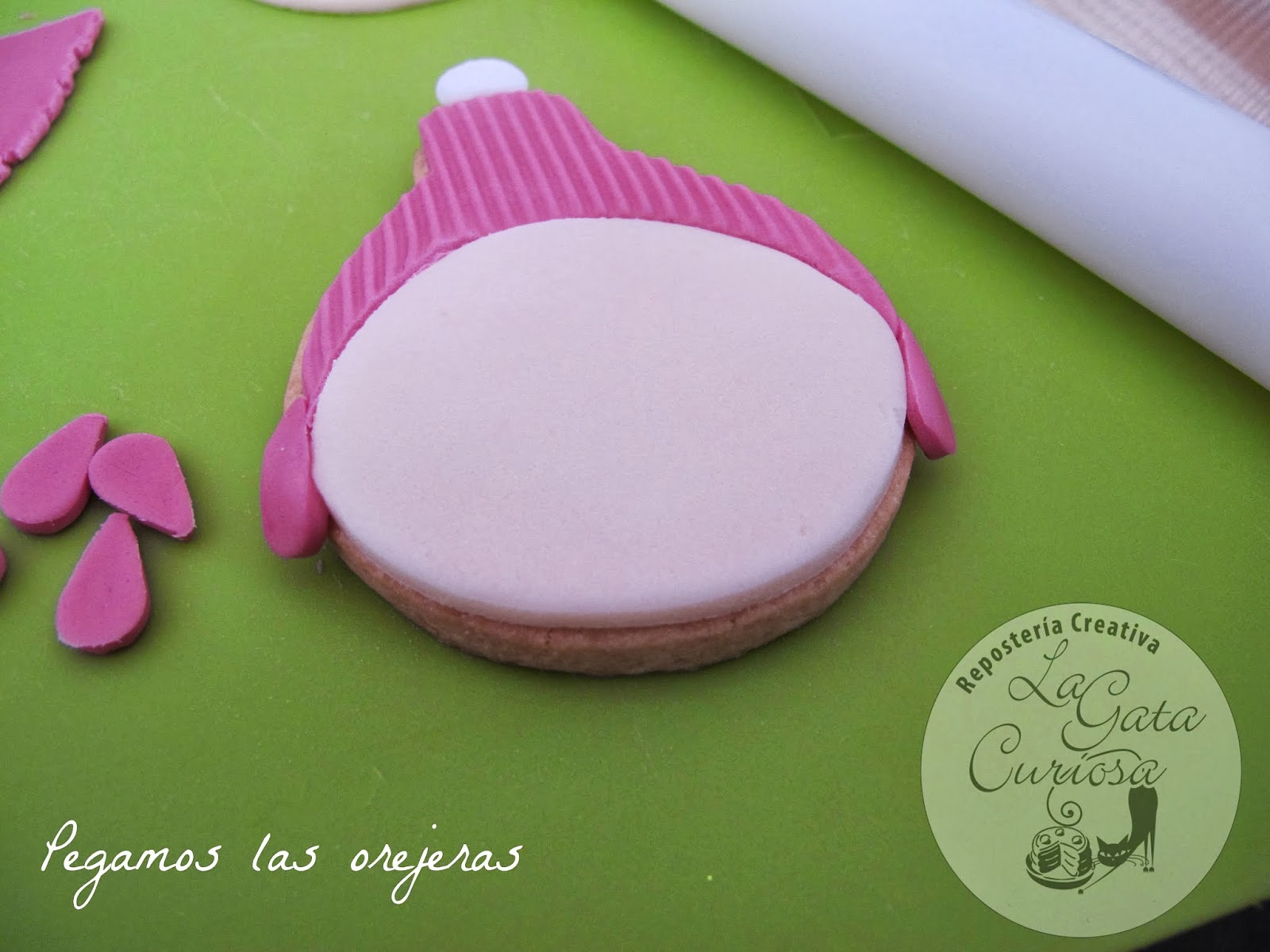 Tutorial De Galletas Decoradas Con Glasa La Gata Curiosa: Tutorial Galleta Fondant De NiÑo NavideÑo