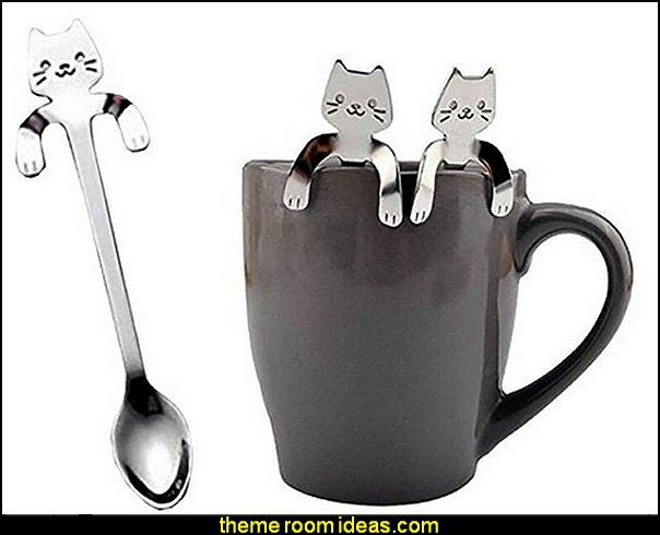 Cute Cat Spoons  kitchen accessories - fun kitchen decor - decorative themed kitchen  - novelty mugs - kitchen wall decals - kitchen wall quotes - cool stuff to buy - kitchen cupboard contact paper -  kitchen storage ideas - unique kitchen gadgets - food pillows - kitchen accessories - fun kitchen decor - decorative themed kitchen  - novelty mugs - kitchen wall decals - kitchen wall quotes - cool stuff to buy - kitchen cupboard contact paper -  kitchen storage ideas - unique kitchen gadgets - food pillows