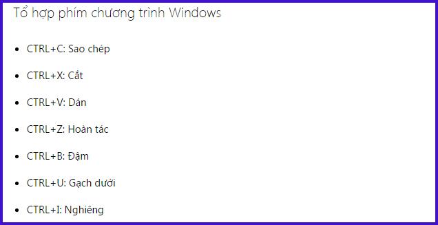 tổ hợp phím tắt trong windows mới nhất