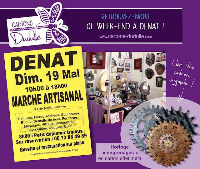 Salon artisanal _ Mai 2019 _ déco et meubles en carton Cartons Dudulle Laura Dambre