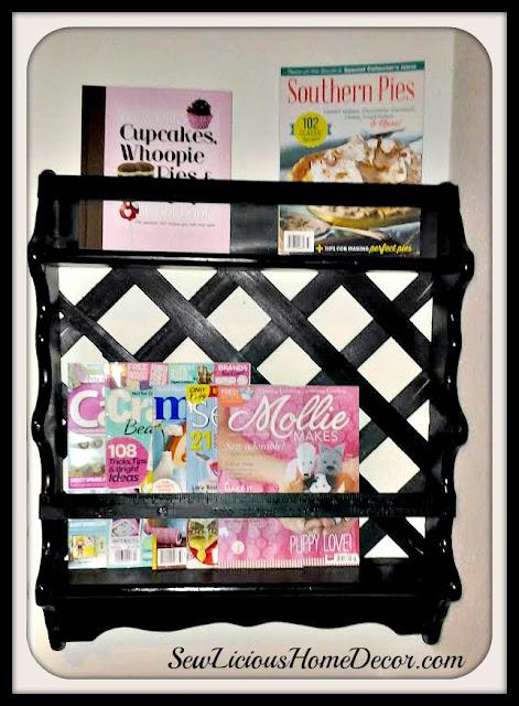 Garage Sale Shelf Makeover at sewlicioushomedecor.com