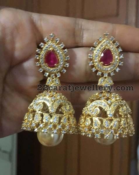 1 Gram Gold Jhumkas Only 1400 Rus