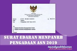 SURAT EDARAN MENPAN RB TENTANG PENGADAAN ASN TAHUN 2019