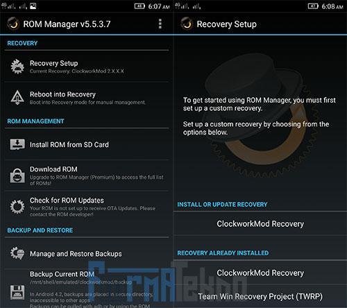 4 Cara install CWM / TWRP Recovery Semua Android Tanpa PC