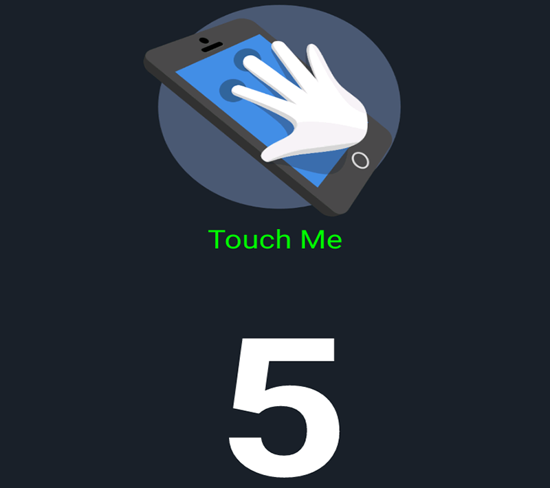 It has the standard 5 points of touch