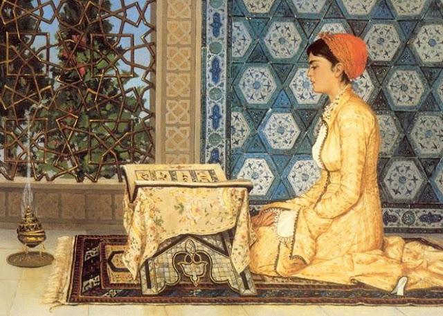 turkish female praying