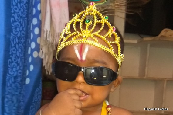 little krishna fancy dress with sunglasses