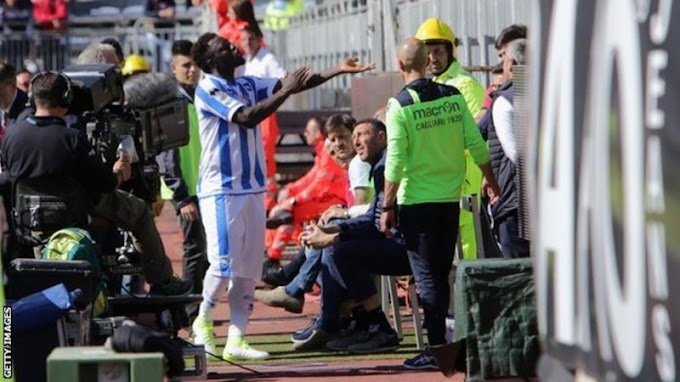 Sulley Muntari: Pescara midfielder booked after reporting 'racial abuse'